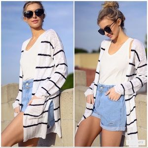 Sweaters - New Striped Cardigan